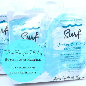 Free Sample Friday - Bumble and Bumble